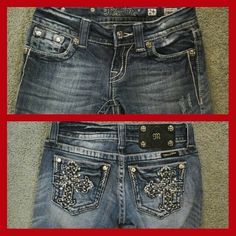 Miss Me Crop Capris Cute crops capris Like new.  Price firm on these Miss Mes. They are my daughters and she won't budge   Trades for size 25 will be considered Miss Me Jeans