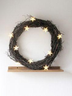 christmas star, wreath