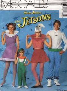 McCalls  5588 JETSONS Costume Pattern Space Age Family George Jane Judy Elmo halloween sewing pattern by mbchills