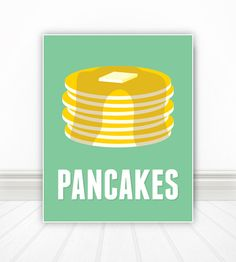 Pancakes by BentonParkPrints on Etsy, $12.00