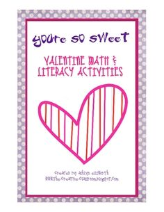 This fun filled set includes Valentine themed math