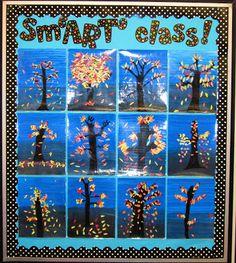 Jen at Runde's Room has a Friday Art Feature each week--great art projects. Elementary Bulletin Boards, Art Bulletin Boards, Elementary Art, School Art Projects, Class Projects, Art School, School Stuff, School Ideas, First Grade Art