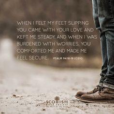REDE MISSIONÁRIA: GOD, YOU COMFORT ME (PSALM 94:18-19