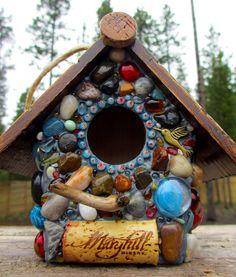 Outdoor Birdhouse Functional Garden Art by WinestoneBirdhouses, $55.00