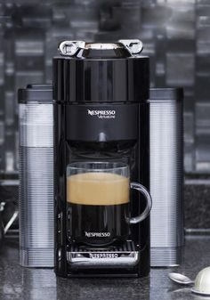Introducing a brand new machine designed to brew coffee that's A Cup Above. The latest coffee machine from Nespresso is offering freshly brewed coffee and authentic espresso at the touch of a button.