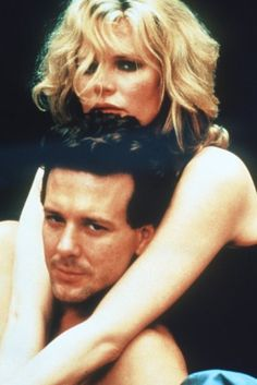 "Kim Basinger and Mickey Rourke~9 1/2 weeks ""How did you know? How did you know I'd respond to you the way that I have?"" I saw myself in you. ;)i(:"