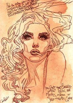 ☆ Cigarette Cindy :¦: By Artist Chris Hill ☆