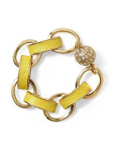 Pim + Larkin Yellow Link Bracelet