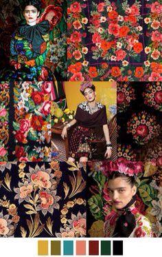 Muy Frida, muy Matrushka, muy español... Muchas flores para este invierno