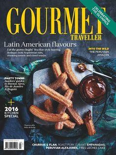 @gourmetpins #magazines #covers #July #2016 #travel #food #recipes #LatinAmerica #flavours #Churros #Flan #empanadas