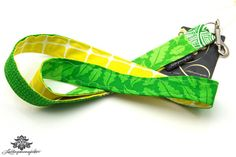 Schlüsselbänder von #Lieblingsmanufaktur: hier gelb und grün