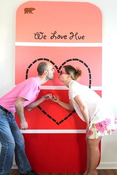 Incorporate your wedding colors into a giant paint chip sample for a unique photo backdrop