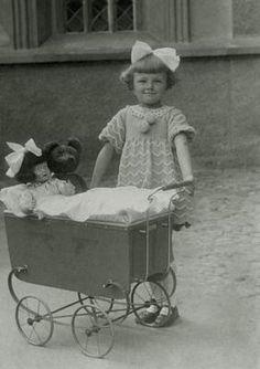 Children Doll Prams Teddy Bear Photo