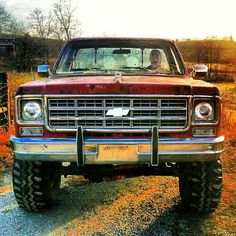 Park your big red Chevy truck in an open field, tune the radio to your favorite station, drop the tailgate, and look up at the stars with your buddies as dawn fades into the night~