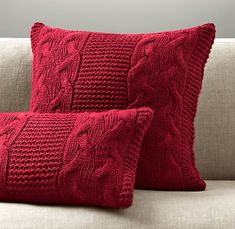 Most recent Pic Crochet pillow cable Concepts kissen-stricken-rotes-modernes-design Red Throw Pillows, Baby Pillows, Sofa Throw, Cable Knit Throw, Diy Pillow Covers, Modern Pillows, Decorative Pillows, Ideias Diy, Crochet Pillow