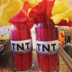 Minecraft Party Decorations - TNT