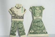 Dollar Bill Origami Braut und Bräutigam