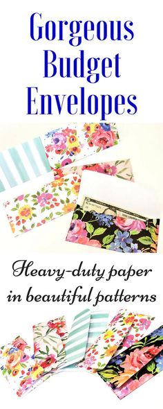 these budget envelopes! They are made with beautiful papers. Could be used for cash gifts as well.