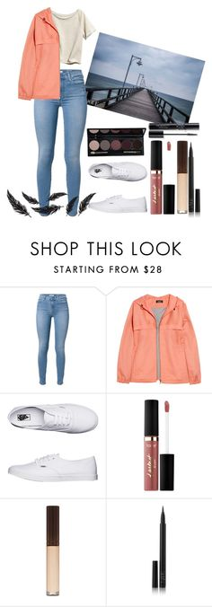 """Untitled #874"" by cashtonlv on Polyvore featuring H&M, 7 For All Mankind, A.P.C., Vans, tarte, NARS Cosmetics and Christian Dior"