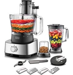 Black+Decker 5-in-1 Food Processor, Black, FX775-B5: Buy Online at Best Price in UAE - Amazon.ae House Appliances, Fluffy Eggs, Uae, Food Processor Recipes, This Or That Questions, Amazon, Things To Sell, Black, Home Appliances