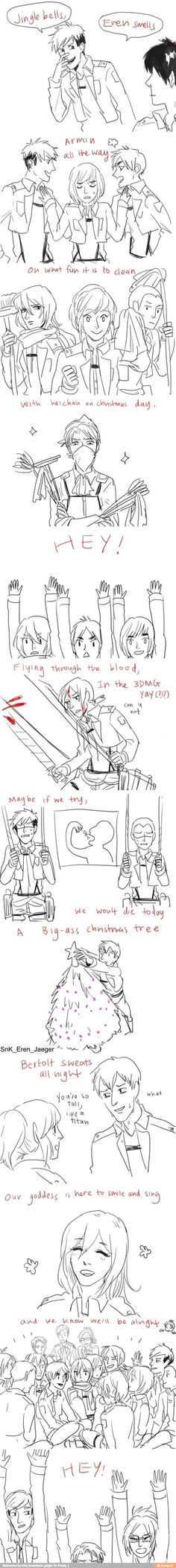 Lol Jingle Bells spinoff<<< Levi in the last panel tho-- XD