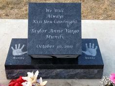 Legacy Monuments - Infant Memorial Headstone Gallery. Made from granite, marble and stone in Red Deer Alberta.
