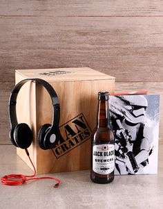 This Star Wars-themed man crate includes a Stormtrooper Notebook, a CBC Lager Craft Beer, and Reverb Folding Headphones. This is undeniably the ultimate Star Wars gift for him!