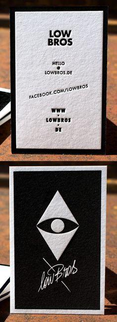 Letterpress Business Card lowBros on 710gsm Metapaper Pure Cotton | Letterpress Manufaktur Hamburg #Visitenkarten #BestBusinessCards #UniqueBusinessCards