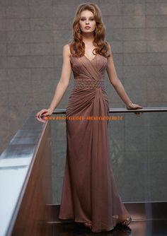 Billig elegante Abendkleider V-Ausschnitt 2013