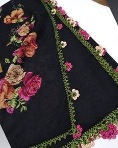 Embroidery Fashion, Crewel Embroidery, Knitted Poncho, Knitted Shawls, Saree Models, Yarn Shop, Easy Crochet Patterns, Lace Design, Knitting Socks