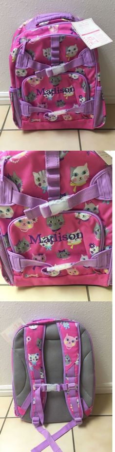 Backpacks and Bags 57882: New With Tags: Pottery Barn Kids Large Backpack: Monogram Madison: Cats -> BUY IT NOW ONLY: $35 on eBay!