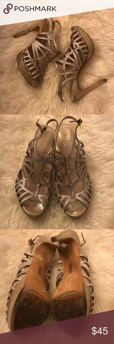 Vince Camuto Heels Worn once. Great condition. Vince Camuto Shoes Heels