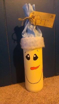 Snowman wine bottle:)
