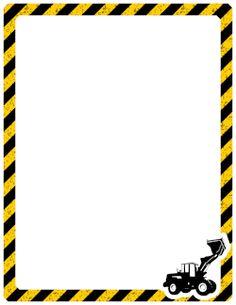 Construction Theme Classroom, Under Construction Theme, Construction Signs, Construction Birthday, Printable Border, Templates Printable Free, Printables, Page Borders Design, Border Design
