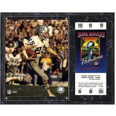 "Fred Biletnikoff Oakland Raiders Fanatics Authentic 12"" x 15"" Super Bowl XI Sublimated Plaque with Replica Ticket"