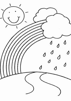 Free & Easy To Print Rainbow Coloring Pages - Tulamama Fruit Coloring Pages, Spring Coloring Pages, Easy Coloring Pages, Coloring Sheets For Kids, Free Printable Coloring Pages, Coloring Books, Kids Coloring, Coloring Pages For Toddlers Printables, Coloring Worksheets For Kindergarten