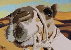 Marron by ArTestor.deviantart.com on @deviantART #camel #camello #desierto