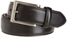 Tommy Hilfiger Men's Glove Grain Dress Belt, Black, 34 Tommy Hilfiger. $28.90. Brushed nickel buckle. Feather edge with stitch. Hand Wash. Dress. Made in China. 35% Polyurethane/33% Genuine Leather/32% Bonded Leather