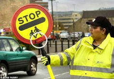 Lollipop Lady with Stick Camera