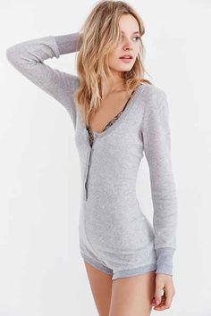 Out From Under Cozy Romper - Urban Outfitters   OMG this is soooo cute