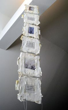 """books papers and things """"Spirit"""" artist book, encaustic, plaster, paper, thread 2010 Mixed Media Collage, Collage Art, Altered Books, Altered Art, Tea Bag Art, Creation Art, Book Sculpture, Paper Sculptures, Encaustic Art"""