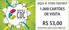 1000 Cartoes de Visita a partir R$ 53,00 - Grafica CDC