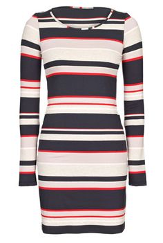 Long Sleeve Multi Stripe Jersey Tunic LTS