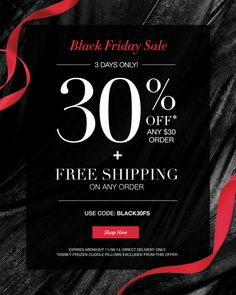 Avon Black Friday Sale: 30% Off Plus Free Shipping on Any Size Order. Use coupon code: BLACK30FS at http://eseagren.avonrepresentative.com #avon #blackfriday #blackfriday2014