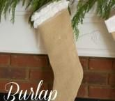 His and Hers Burlap Stockings