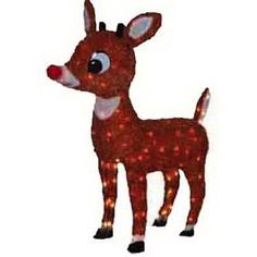 Product Works Lighted Rudolph Outdoor Decor, Lawn Ornament Make sure this fits by entering your model number. Officially licensed Rudolph the Red-Nosed Reindeer yard decorationFun and festive statue features a classic Rudolph Outdoor Reindeer Lights, Outdoor Reindeer Christmas Decorations, Christmas Yard Art, Rudolph Christmas, Noel Christmas, Holiday Decor, Christmas Lights, Vintage Christmas, Christmas Inflatables