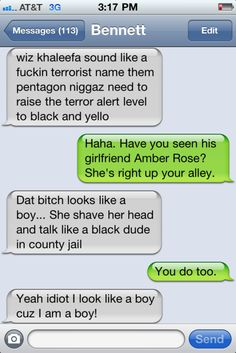 Hilarious blog, made up of the guy's cousin's very funny texts.
