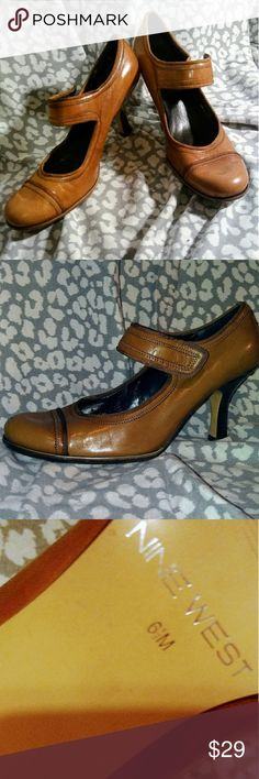 Nine West heels Nine West heels. Tan and very comfortable. Has some wear. Great for many different styles. Nine West Shoes Heels
