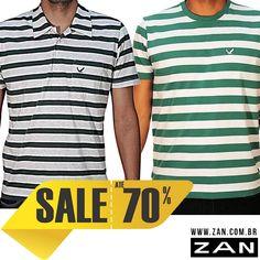 Até 70% de desconto para todo mundo ficar na moda. Aproveite! #VaideZan