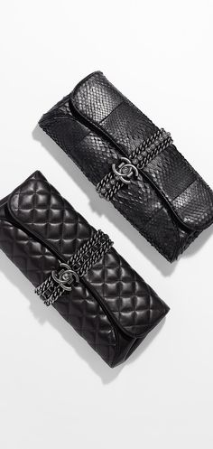 Lambskin evening clutch - CHANEL